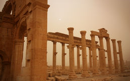 Ruins of Palmyra, Syria. Ruins of Palmyra in Syria, once a vital caravan city for travellers crossing the Syrian desert stock images