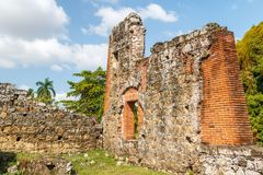 Ruins of Panama Viejo, UNESCO World heritage site stock photo