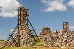 Ruins of Panama Viejo, UNESCO World heritage site stock photography