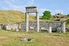 Ruins Panticapaeum in Kerch Stock Photos