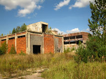 Ruins of paper mill 3 Royalty Free Stock Image