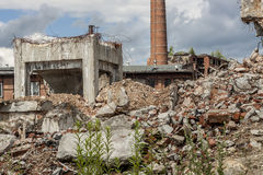 Ruins of Paper Mill - Kalety, Poland. Royalty Free Stock Photos