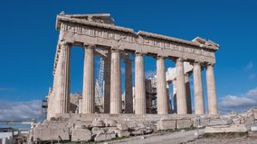 The Parthenon in the Acropolis of Athens. Ruins of The Parthenon in the Acropolis of Athens, Attica, Greece stock image