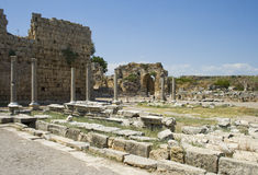 Ruins in Perga Stock Photos