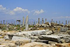 Ruins in Perga Stock Photo