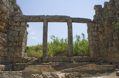 Ruins in Perga Royalty Free Stock Photography