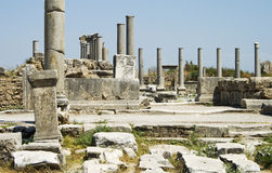 Ruins in Perga Royalty Free Stock Photos