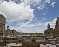 Ruins of Perga in Turkey with Hellenistic Gates Royalty Free Stock Photo
