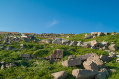 Ruins in Pergamon Royalty Free Stock Images
