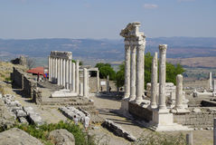 The ruins of Pergamon, birthplace of Hippocrates. Royalty Free Stock Photos