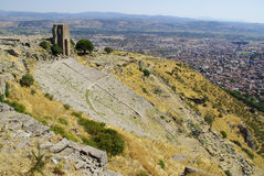 The ruins of Pergamon, birthplace of Hippocrates. Stock Photo