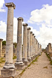 Ruins of Perge an ancient Anatolian city in Turkey. Stock Images