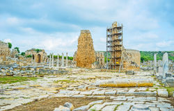 Among the ruins of Perge Royalty Free Stock Images