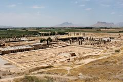 Ruins of Persepolis - ancient capital of the Persian empire. Stock Photos