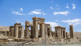 The ruins of Persepolis in Iran. This picture is taken at Shiraz, Iran. Persepolis was once the richest city on earth - the glittering capital of the Achaemenid stock images