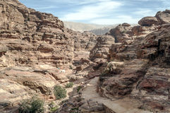 Ruins of Petra Stock Photography
