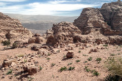 Ruins of Petra Stock Image