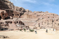 Ruins of Petra Royalty Free Stock Photography