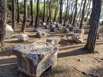 Ruins in Phaselis, Turkey Stock Photo