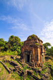 Ruins of Phnom Bakheng Temple at Angkor Wat complex Royalty Free Stock Image