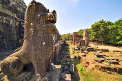 Ruins of Phnom Bakheng Temple at Angkor Wat complex Royalty Free Stock Photography