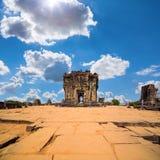 Ruins of Phnom Bakheng Temple at Angkor Wat complex. Siem Reap, Cambodia Stock Image