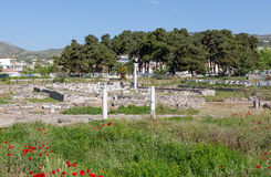 Ruins of Phthiotic Thebes in Nea Anchialos, Thessaly, Greece Stock Photos