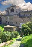 Ruins of the Piazza San Giovanni archaeology  antiquity. Rome Stock Image