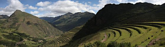 Ruins at Pisac. In Peru's Sacred Valley Royalty Free Stock Photography