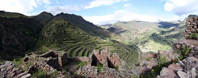 Ruins at Pisac. In Peru's Sacred Valley Royalty Free Stock Image