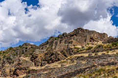 Ruins of Pisac, Sacred Valley, Peru Royalty Free Stock Images