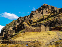 Ruins of Pisac. In Urubamba valley near Cusco (Peru Royalty Free Stock Image