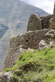 Ruins of Pisac in Urubamba valley near Cusco, Peru Royalty Free Stock Images