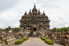 Ruins of Plaosan temple complex Royalty Free Stock Photo