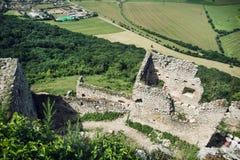 Ruins of Plavecky castle, Slovak republic Royalty Free Stock Photography
