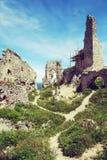 Ruins of Plavecky castle, Slovakia Royalty Free Stock Photos