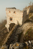 Ruins of plavecky hrad castle Stock Photography
