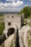 Ruins of Plavecky hrad Castle Stock Images