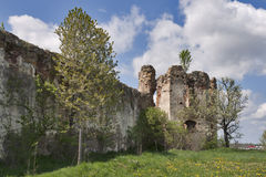 Ruins of Pniv castle Stock Image