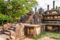 Ruins in Polonnaruwa Royalty Free Stock Images