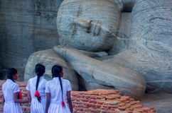 The Ruins Of Polonnaruwa in Sri Lanka royalty free stock photography