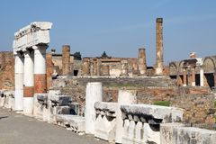 Ruins of Pompei. (south of Italy stock photography