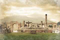 Ruins of Pompei, Italy Stock Images