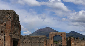 Ruins of Pompei, near Naples, Italy Royalty Free Stock Image