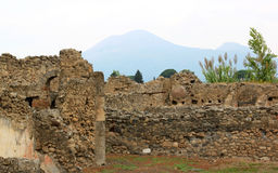 Ruins of Pompei and the Vesuvius, Italy Stock Photos