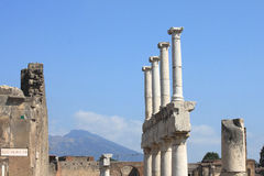Ruins of Pompeii. Ancient Roman city in Italy died from eruption of  Vesuvius. Stock Images