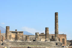 Ruins of Pompeii. Ancient Roman city in Italy died from eruption of  Vesuvius. Royalty Free Stock Photos