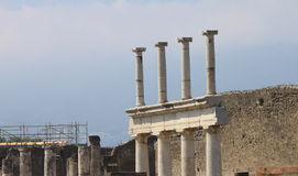 Ruins of Pompeii. Ancient Roman city in Italy died from eruption of  Vesuvius. Royalty Free Stock Photography