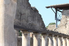 Ruins of Pompeii. Ancient Roman city in Italy died from eruption of  Vesuvius. Stock Photo