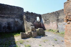 Ruins of Pompeii. Ancient Roman city in Italy died from eruption of  Vesuvius. Stock Photos